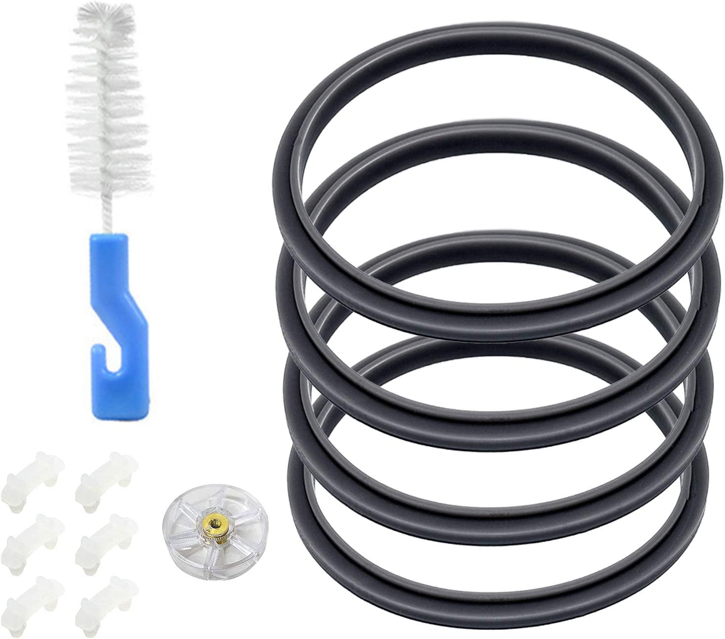 Blender Gasket Replacement Parts, Rubber O Ring Replacement for Nutribullet Blender 900W & 600W Series, Gaskets Replacement for Nutribullet Blade Including Shock Pad and Gear(12 Pieces)