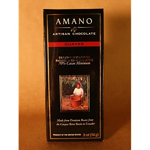 Amano Artisan Dark Chocolate Bar - 3 Ounce - Academy of Chocolate Award Winner! (
