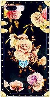 Funermei Flower Luxury Case for iPhone 6 Plus 6S Plus +,Square Colorful Rose Floral Rivet Pattern Design Cute Slim Cover,Unique Women Girls Lady Skin, Color TPU Cases for iPhone 6Plus