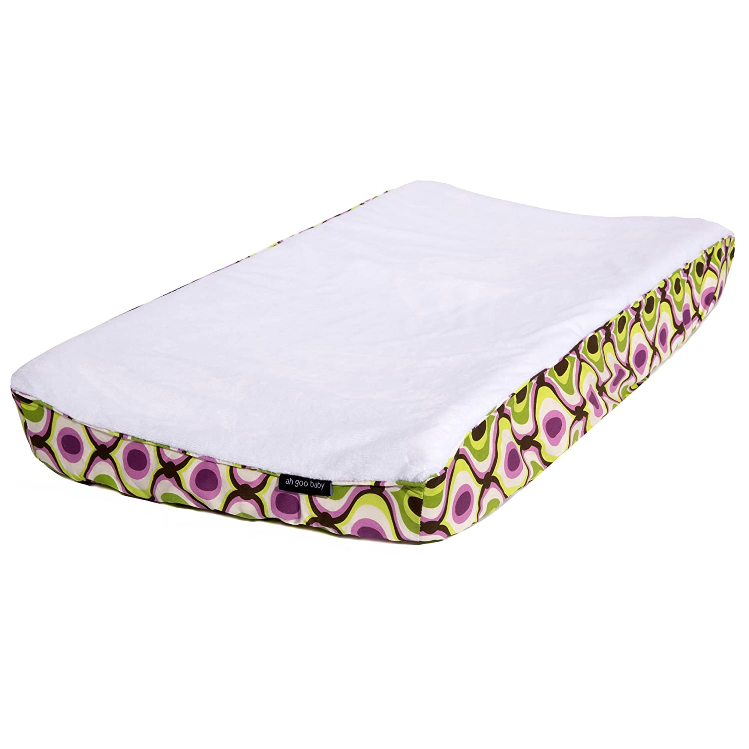 Ah Goo Baby 100% Cotton Changing Pad Cover, Universal Size, Spa Pattern