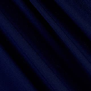 Ben Textiles Navy Double Georgette Fabric by The Yard