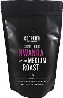 Rwanda Full Bodied Medium Roast Coffee Beans, Farm Gate Direct Trade, Micro Lot Single Origin Whole Coffee Beans, Gourmet Coffee - 12 oz Bag