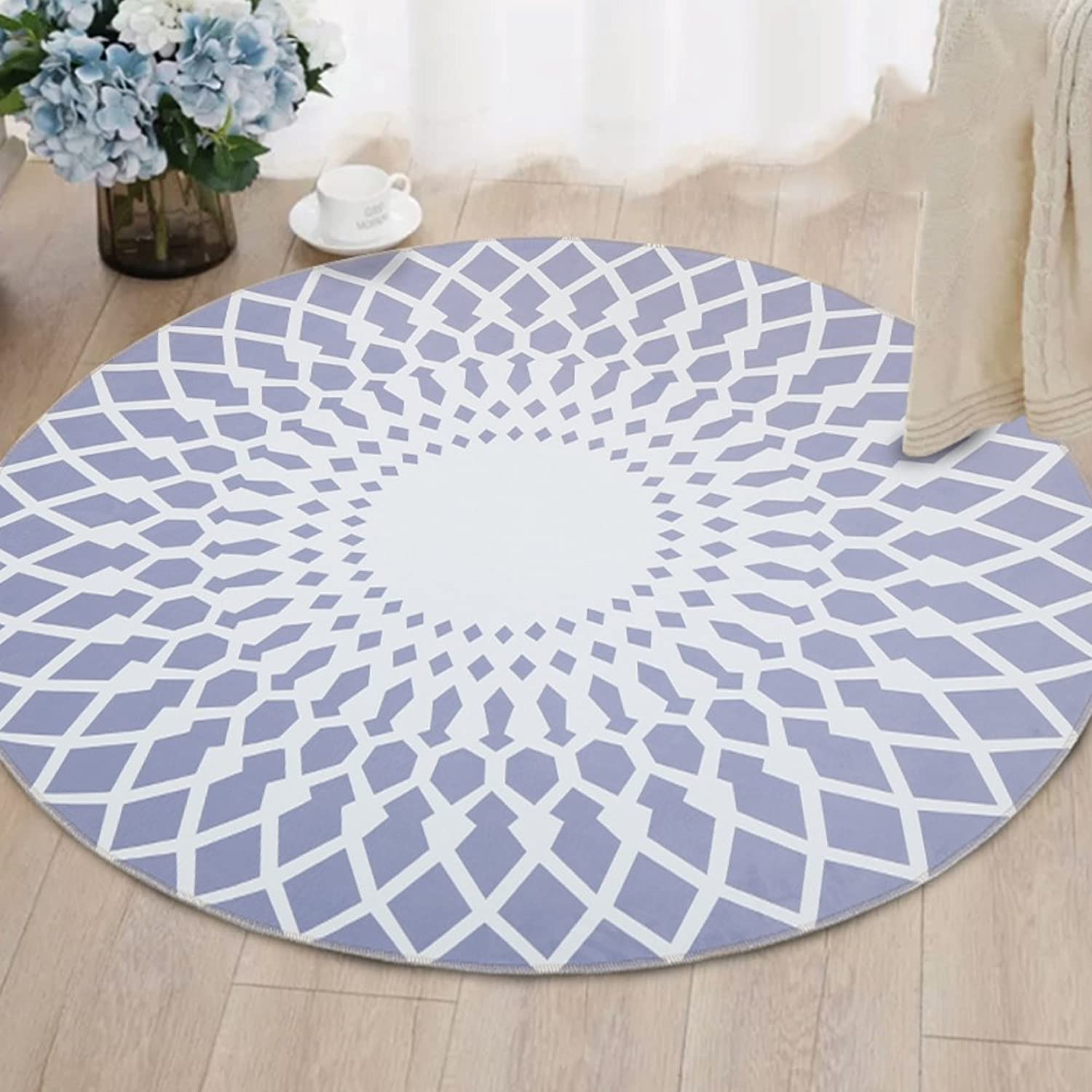 Round carpet computer chair cushion hanging basket pad living roombedroom study simple-C 120x120cm(47x47inch)