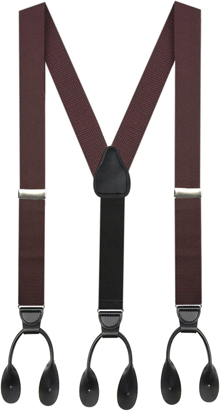Charlotte Mall Suspender for Men MADE IN USA Y-Back Genuine – Max 41% OFF Leather Trim
