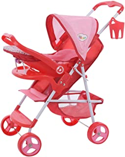 Little Mommy Doll Ultimate Travel System Stroller (D83589) with Retractable Canopy & Shopping Basket Below - Feeding Tray...