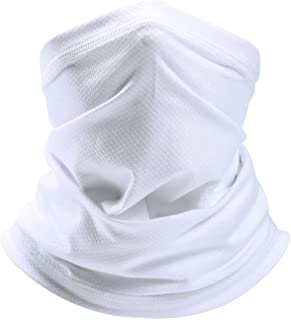 SAITAG Sun Dust Protection Neck Gaiter Breathable Elastic Face Scarf Mask for Hot Summer Cycling Hiking Fishing