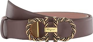 Salvatore Ferragamo Women's New Gancini Twisted Adjustable Belt