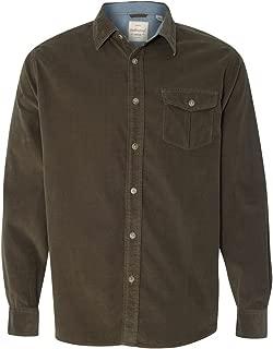 Mens Vintage Mini Cord Long Sleeve Shirt (154867)