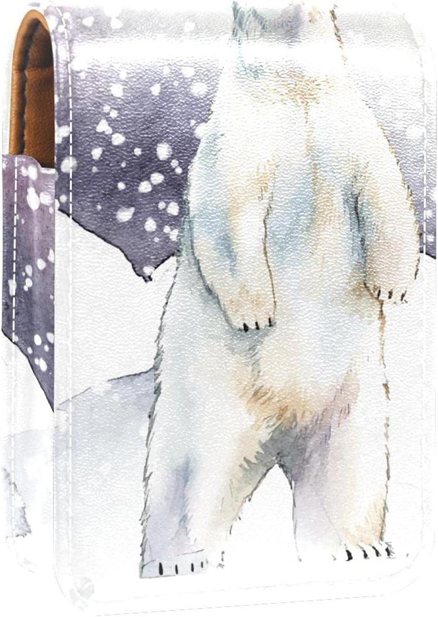 Winter Max 58% OFF Snow Animal Polar Bear Lip Por Holder Gloss Lipstick Challenge the lowest price of Japan Case