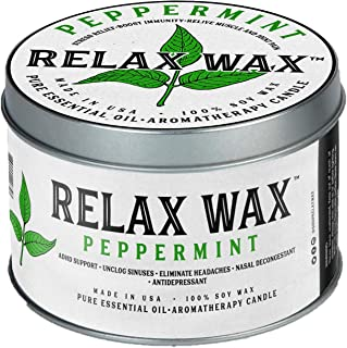Relax Wax Essential Oil Candle Peppermint USA Made