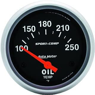 Auto Meter 5948-M ES 2-1//16 60-170 Degree C Short Sweep Electric Oil Temperature Gauge