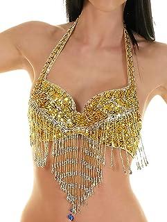 Turkish Emporium Danse Orientale Haut Cache Coeur Belly Dance Top Danse du Ventre Gris
