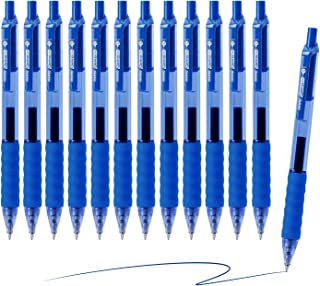 AIHAO Blue Ink Gel Pen, Medium Point, 0.7mm, Quick Dry Ink,12 Pack, Retractable Gel Ink Rollerball Pens With Cushion Grip