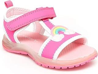 carter's Girl's Feline Light-up Athletic Sandal, Fuchsia, 4 M US Toddler