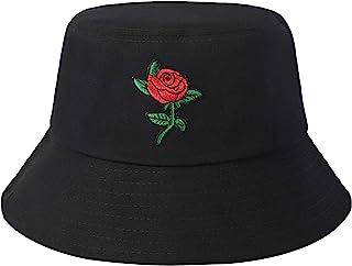 ZLYC, Sombrero de pescador unisex bordado a la moda para hombres y mujeres