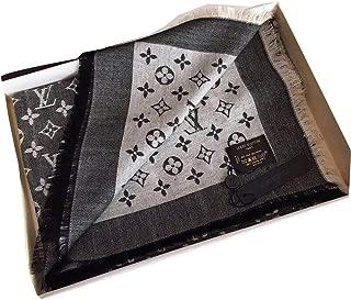 Fashion Luxury Monogram Silk/Wool Shine Scarf/Shawl Warm Large Scarves for Women (Color 2)