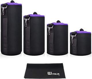 WITHLIN Lenstas Multi Pack Lenszak met zachte pluche en neopreen tas voor camera SLR DSLR lens (Canon Nikon Fuji Panasonic...