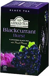 Ahmad Tea Blackcurrant Burst Black Tea, 20-Count Box