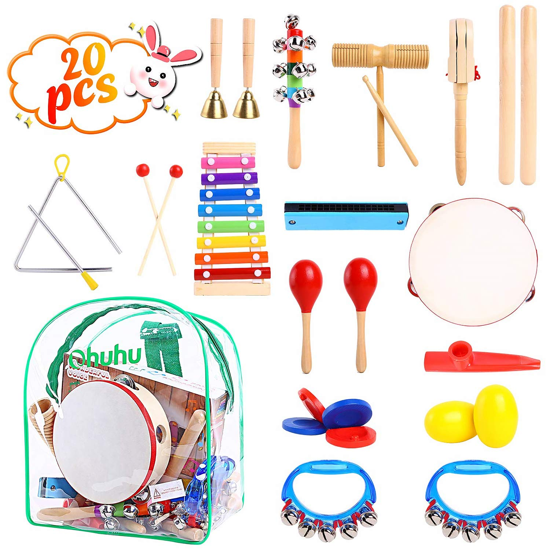 Ohuhu 20 uds Instrumentos Musicales para niños, Conjunto de ...