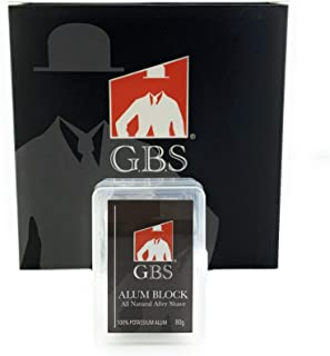 GBS Potassium Alum Stone 80G All Natural - Soothing Aftershave Facial Toner to Close Pores Helps Sooth Nicks and Cuts (Alu...
