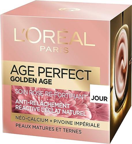 L'Oréal Paris - Age Perfect - Golden Age - Soin Jour Rose Re-Fortifiant - Anti-Relâchement & Eclat - Peaux Matures et...