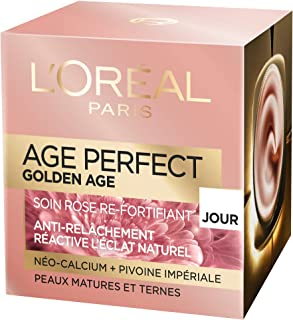L'Oréal Paris - Age Perfect - Golden Age - Soin Jour Rose Re-Fortifiant - Anti-Relâchement & Eclat - Peaux Matures et Tern...