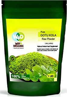 Brahmi Powder 16 Ounces (1 Pound), Bacopa Monnieri/Gotu Kola Powder - Way4Organic