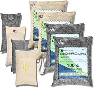 Activated Bamboo Charcoal Bag-8 PACK,Natural Activated Bamboo Charcoal Air Filter Ordor Remover Absober Eco Friendly Odor ...