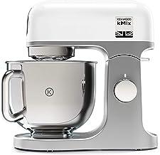 Kenwood kMix KMX750WH - Robot de cocina multifunción, 1000 W, bol metálico de 5 L con asa, gancho para amasar, varillas, mezclado K, Aacero inoxidable, 6 velocidades, color blanco