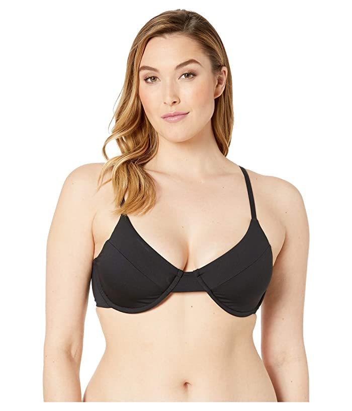 Volcom Plus Size Simply Seamless Underwire Top (Black) Women