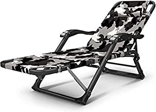 Recliner Sun Lounger Folding Chair Recliner Lunch Rest Chair Camouflage Series Office Adult Recliner Portable Folding Beac...