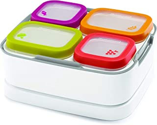 Rubbermaid Balance Pre Portioned Meal Kit Food Storage Containers, White/Gray, 11 Piece Set including Lids |Bento Box Style | Microwave and Dishwasher Safe