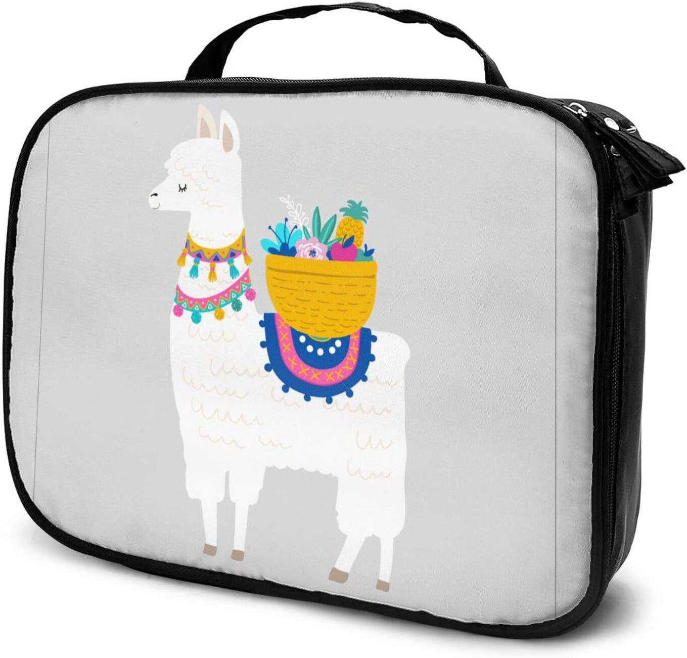 Lovely Alpaca Travel Makeup Oakland Mall Orga Case Train Max 88% OFF Cosmetic