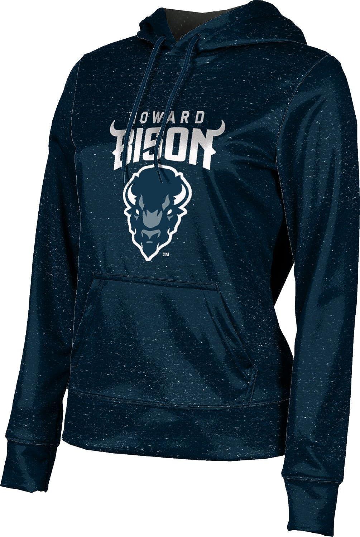 Howard University Girls' Pullover Hoodie, School Spirit Sweatshirt (Heather)
