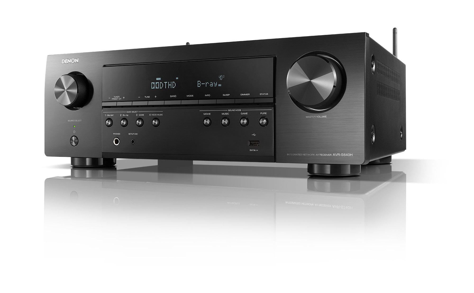 Denon AVR S640H Receiver Surround Streaming