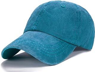Edoneery Men Women Plain Cotton Adjustable Washed Twill Low Profile Baseball Cap Hat(A1008)