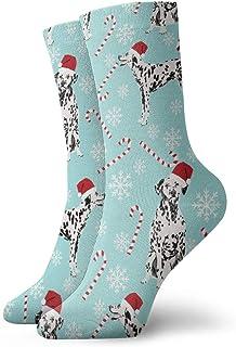 Calcetines de algodón acolchados para entrenamiento, senderismo, caminata, atletismo, deportes, para hombres y mujeres, menta dálmata 2