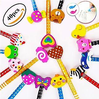 comprar comparacion Lápices Infantiles con Borrador de Dibujos Multicolores 40 pcs, KimKo Lápices para Niños Regalos para Fiestas Cumpleaños P...