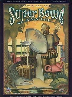 NFL 1999 Super Bowl XXXIII Collectible Souvenir Game Program Falcons vs Broncos - NFL Programs