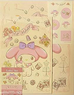 مجموعة حروف Sanrio My Melody 12 ورقة كتابة + 6 مظاريف + 7 ملصقات قرطاسية يابانية (دمية عتيقة)