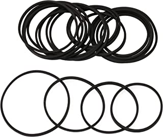 BQLZR 20 Pcs DVD Drive Rubber Belt Mixed 2mm Square Folded 75 to 100mm for Recorders
