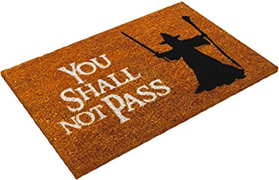 getDigital Doormat You Shall not Pass - Carpet Entrance Rug Front Door Welcome Mat - Made from high-Quality Natural Coco Coir Fibres - Perfect for Fantasy Lovers - 60 x 40 cm