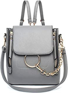 Women Causal Ring Purse Cute Chain Crossbody Backpack Top Handle Vintage Ladies Girls Shoulder Bag