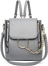WOG2008 Women Causal Ring Purse Cute Chain Crossbody Backpack Top Handle Vintage Ladies Girls Shoulder Bag