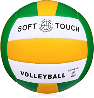 Wisdom Leaves Beach Volleyball Soft Touch Volleyball for Outdoor/Indoor Game Balls Official Size 5
