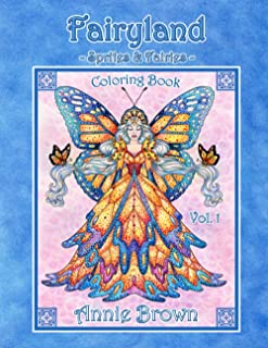 Fairyland -Sprites and Fairies- Coloring Book Vol. 1: Fairies, sprites, gnomes, brownies and more. Annie Brown Coloring Books