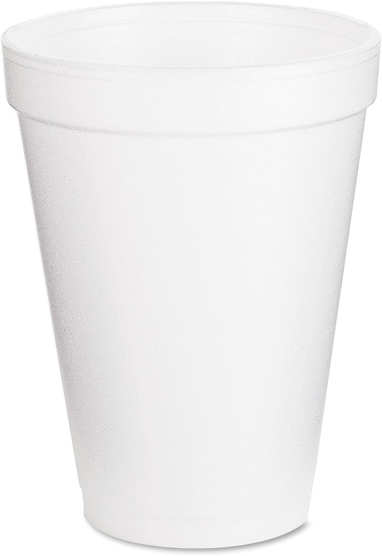 Foam Drink Cups, 12oz, White