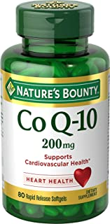 Natures Bounty CoQ10 Pills and Dietary Supplement Supports Cardiovascular and Heart Health 200mg 80 Softgels