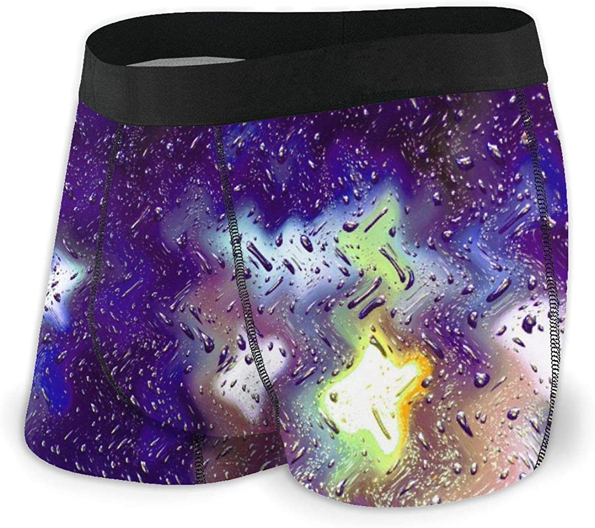 Mens Boxer Briefs Marvellous Colorful Wave Breathable Underwear