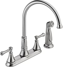 Delta Faucet 2497LF-AR Cassidy, Two Handle Kitchen Faucet with Spray, Arctic Stainless